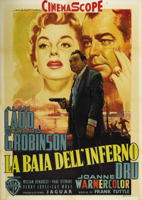 "Hell on Frisco Bay (Warner Brothers, 1955). Italian 2-Folio (39"" X 55""). Alan Ladd is an ex-cop just being rel..."