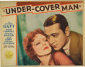 "Movie Posters:Crime, Under-Cover Man (Paramount, 1932). Lobby Card (11"" X 14"").Paramount didn't make title cards, so the portrait cards fromthi..."