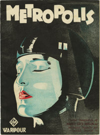 Metropolis (UFA, 1927). Program (Multiple Pages). Fritz Lang's masterful science fiction epic virtually invented the gen...