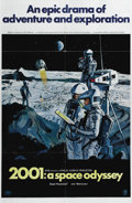 "Movie Posters:Science Fiction, 2001: A Space Odyssey (MGM, 1968). One Sheet (27"" X 41""). Style B.Stanley Kubrick made his greatest contribution to film wi..."