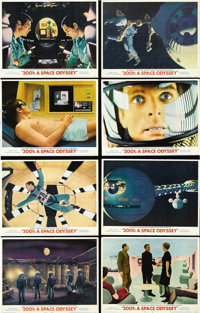 "2001: A Space Odyssey (MGM, 1968). Lobby Card Set of 8 (11"" X 14""). From the Dawn of Man to the Infinite and B..."