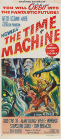 """Movie Posters:Science Fiction, The Time Machine (MGM, 1960). Australian Daybill (13.25"""" X 30""""). Rod Taylor and Yvette Mimieux star in this adaptation of H...."""