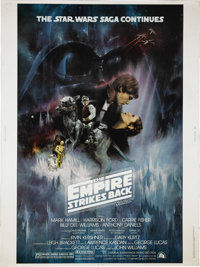 "The Empire Strikes Back (20th Century Fox, 1980). Poster (30"" X 40""). George Lucas was so determined that the..."