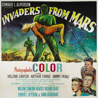 "Invaders From Mars (20th Century Fox, 1953). Six Sheet (81"" X 81""). ""Invaders From Mars"" was one of..."