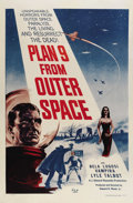 "Movie Posters:Science Fiction, Plan 9 From Outer Space (DCA, 1959). One Sheet (27"" X 41""). BelaLugosi made his final film appearance in this low budget cu..."