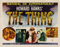"Movie Posters:Science Fiction, The Thing From Another World (RKO, 1951). Half Sheet (22"" X 28"").Style A. Howard Hawks' early contribution to the science f..."