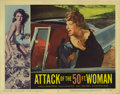 "Movie Posters:Science Fiction, Attack of the 50 Foot Woman (Allied Artists, 1958). Lobby Cards (4)(11"" X 14""). The border art on all four of these cards, ... (Total:4 Items)"