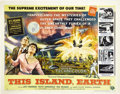 "Movie Posters:Science Fiction, This Island Earth (Universal, 1955). Half Sheet (22"" X 28""). StyleA. Universal International's foray into big budget Scienc..."