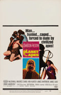 """Movie Posters:Science Fiction, Planet of the Apes (20th Century Fox, 1968). Window Card (14"""" X22""""). Pierre Boulle's novel was adapted to the screen and be..."""