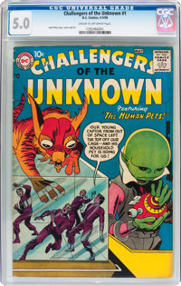 Challengers of the Unknown #1 (DC, 1958) CGC VG/FN 5.0 Cream to off-white pages