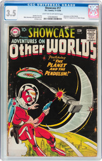 Showcase #17 Adventures on Other Worlds (DC, 1958) CGC VG- 3.5 Light tan to off-white pages