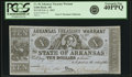 Obsoletes By State:Arkansas, Little Rock, AR - State of Arkansas-Arkansas Treasury Warrant $10 Feb. 6, 1865 Cr. 56, Rothert 393-1var. PCGS Extremely Fine 4...