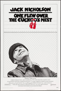 "One Flew Over the Cuckoo's Nest (United Artists, 1975). First Release One Sheet (27"" X 41""). Academy Award Win..."