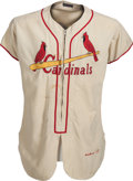 Baseball Collectibles:Uniforms, 1953 Del Rice Game Worn St. Louis Cardinals Jersey....