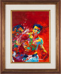 "Boxing Collectibles:Memorabilia, Circa 1974 ""Rumble in the Jungle"" Original Painting by LeRoy Neiman--Featuring Muhammad Ali & George Foreman...."