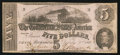 Confederate Notes:1862 Issues, T53 $5 1862 PF-8 Cr. 385.. ...
