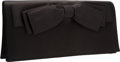 "Luxury Accessories:Bags, Judith Leiber Black Satin Bow Clutch Bag. Very GoodCondition. 10.5"" Width x 5"" Height x 2"" Depth. ..."