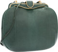 "Luxury Accessories:Bags, Judith Leiber Green Lizard Evening Bag. Excellent Condition.7.5"" Width x 6.5"" Height x 3"" Depth. ..."