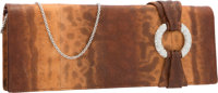 "Judith Leiber Brown Karung Evening Bag Excellent Condition 10.5"" Width x 4"" Height x 1.5"" Depth</..."