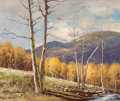 Fine Art - Painting, American:Contemporary   (1950 to present)  , Robert William Wood (American, 1889-1979). Aspens, 1953. Oilon canvas. 20 x 24 inches (50.8 x 61 cm). Signed and dated ...