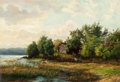 Fine Art - Painting, European:Antique  (Pre 1900), Jacob Silvén (Swedish, 1851-1924). Homestead, 1919. Oil oncanvas. 21 x 30 inches (53.3 x 76.2 cm). Signed and dated low...