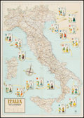 "Movie Posters:Miscellaneous, Italy (UMA, 1960s). Travel Map (27.5"" X 39""). Miscellaneous.. ..."