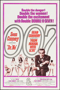 """Dr. No/From Russia with Love Combo (United Artists, R-1965). One Sheet (27"""" X 41"""") & Uncut British Pressbo..."""