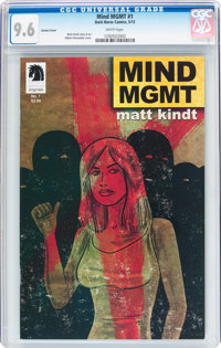 Mind MGMT #1 Variant Cover (Dark Horse, 2012) CGC NM+ 9.6 White pages