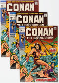 Bronze Age (1970-1979):Adventure, Conan the Barbarian #1-3 Group (Marvel, 1970) Condition: Average FN/VF.... (Total: 16 Comic Books)