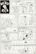 Original Comic Art:Complete Story, Marty Taras (attributed) Little Dot #9 Complete 1-Page Richie Rich Story Original Art (Harvey, 1955)....