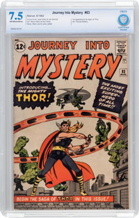 Journey Into Mystery #83 (Marvel, 1962) CBCS VF- 7.5 Off-white to white pages