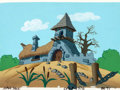 Animation Art:Painted cel background, Smurfs Gargamel's House Painted Production Background(Hanna-Barbera, 1981)....