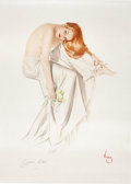 "Memorabilia:Miscellaneous, Alberto Vargas ""Jeanne Dean"" Signed Limited Edition Pin-Up 121/300 (1991)...."