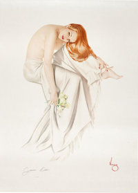 "Alberto Vargas ""Jeanne Dean"" Signed Limited Edition Pin-Up 121/300 (1991)"