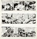 Original Comic Art:Comic Strip Art, Frank Robbins Johnny Hazard Daily Comic Strip Original Art Group of 3 (King Features Syndicate, 1975). ... (Total: 3 Original Art)