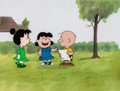 Animation Art:Production Cel, Peanuts The Charlie Brown and Snoopy Show Charlie Brown,Lucy Van Pelt and Violet Production Cel Setup and Dra... (Total: 7Original Art)