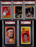 Basketball Cards:Lots, 1969-78 Topps Basketball Collection (60) With HoFers &Stars....