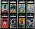Football Cards:Lots, 1955-72 Bowman & Topps Football Collection (13)....