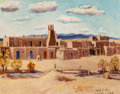 , Albert Lujan (American/Mexican, 1892-1948). Taos, NewMexico. Oil on canvasboard. 9 x 12 inches (22.9 x 30.5 cm).Signed...