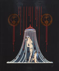 Prints, Erté (Romain de Tirtoff) (Russian/French, 1892-1990). Helen of Troy, 1985. Screenprint in colors with foil stamping on b...