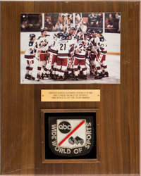 "1980 Dave Christian USA Hockey Team ""ABC Wide World of Sports Athlete of the Year Award."""