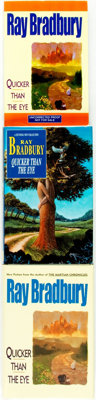 Ray Bradbury. Three First Editions of Quicker than the Eye, Two of Which are INSCRIBED.<
