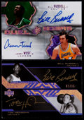 Basketball Cards:Lots, 2007 SPx Russell/West Duel Scripts & UD Black Russell/HeinsohnDual Signature Pair (2)....