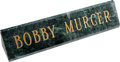 Baseball Collectibles:Others, 2000's Bobby Murcer Personal Desk Nameplate from The Bobby MurcerCollection. ...