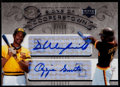 Baseball Cards:Singles (1970-Now), 2005 UD Hall of Fame Baseball Signs of Cooperstown DaveWinfield/Ozzie Smith Dual Signature #WS....