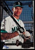"""Baseball Cards:Singles (1970-Now), Signed 3.5"""" x 5"""" 1994 SP Alex Rodriguez #15...."""