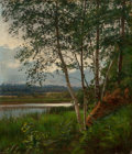 Fine Art - Painting, European:Antique  (Pre 1900), Swedish School (19th Century). Landscape with Birches, 1878.Oil on canvas. 22 x 19 inches (55.9 x 48.3 cm). Signed ille...