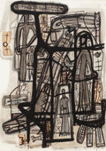 Works on Paper, Clyde Connell (American, 1901-1998). Habitat for Mantis and Man. Ink and acrylic on paper. 29-3/4 x 21-1/2 inches (75.6 ...