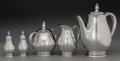 Silver Holloware, American:Coffee Pots, A Five-Piece International Silver Royal Danish PatternSilver Coffee Service,. Meriden, Connecticut, designed 19...(Total: 5 Items)