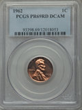 Proof Lincoln Cents, 1962 1C PR69 Red Deep Cameo PCGS. PCGS Population (35/0). NGC Census: (39/0). Numismedia Wsl. Price for problem free NGC/P...